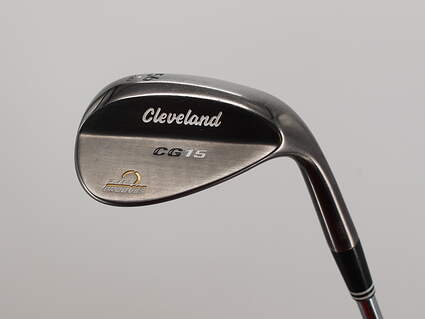 Cleveland CG15 Black Pearl Wedge Sand SW 56° 10 Deg Bounce C Grind Cleveland Action Ultralite W Steel Wedge Flex Right Handed 35.5in