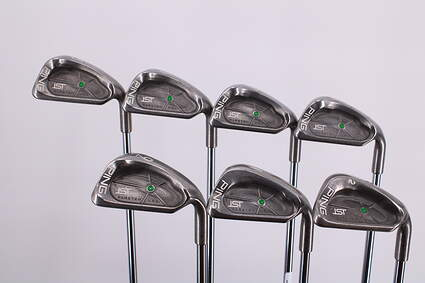 Ping ISI Iron Set 5-PW SW Ping JZ Steel Stiff Right Handed Green Dot 37.5in
