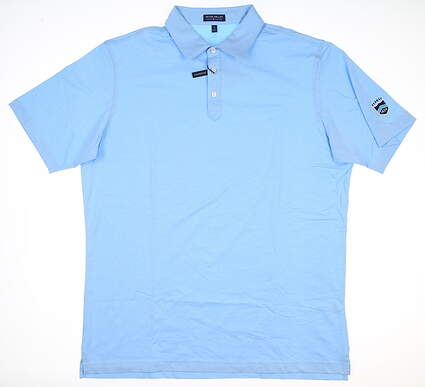 New W/ Logo Mens Peter Millar Polo X-Large XL Blue MSRP $98