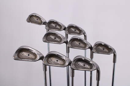 Ping Zing Iron Set 3-PW SW Ping JZ Steel Stiff Right Handed Black Dot 37.5in
