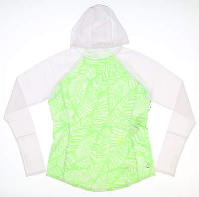 New Womens Jo Fit Spectrum Golf Hooded Pullover Small S Green MSRP $85 UT071-HYP