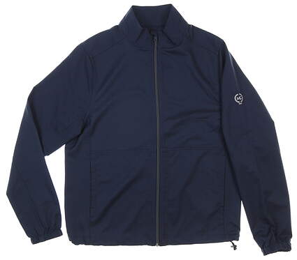New W/ Logo Mens Greg Norman Jacket Small S Navy Blue MSRP $69