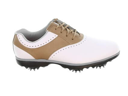 New Womens Golf Shoe Footjoy eMerge Medium 8.5 White/Brown MSRP $90 93914