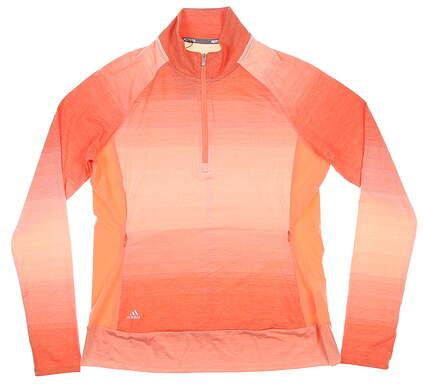 New Womens Adidas 1/4 Zip Pullover Medium M Orange MSRP $65 CE2994
