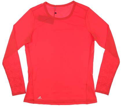 New Womens Adidas Long Sleeve Medium M Red MSRP $65 CE3029