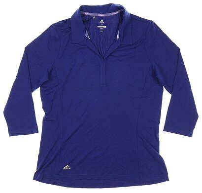 New Womens Adidas Long Sleeve Medium M Blue MSRP $65 CY5389