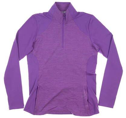 New Womens Adidas 1/4 Zip Pullover Medium M Purple MSRP $65 DP5791