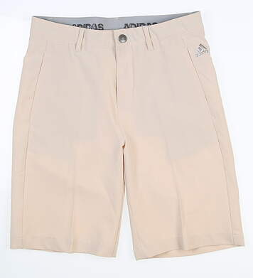New Youth Adidas Boys Golf Shorts Medium M Khaki MSRP $50 BC2256