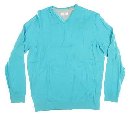 New Mens Adidas Adipure Golf Sweater Medium M Teal MSRP $140