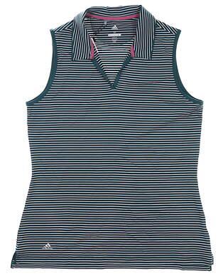 New Womens Adidas Sleeveless Polo Medium M Multi MSRP $55 DQ1287