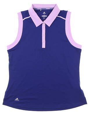 New Womens Adidas Sleeveless Polo Medium M Purple MSRP $60 CW6667