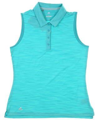 New Womens Adidas Sleeveless Polo Medium M Green MSRP $55 CW6607