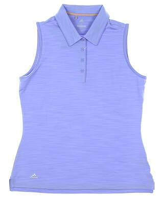 New Womens Adidas Sleeveless Polo Medium M Purple MSRP $55 CD4006