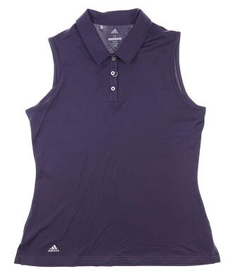New Womens Adidas Sleeveless Polo Medium M Purple MSRP $55 CD3427