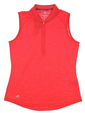 New Womens Adidas Sleeveless Polo Medium M Red MSRP $55 CD3492