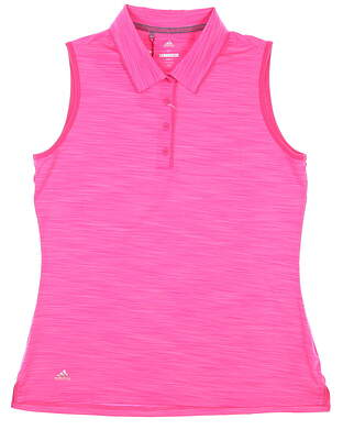 New Womens Adidas Sleeveless Polo Medium M Pink MSRP $55 CW6609