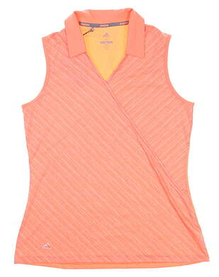 New Womens Adidas Sleeveless Polo Medium M Orange MSRP $55 CD3397