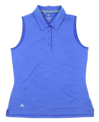 New Womens Adidas Sleeveless Polo Medium M Blue MSRP $55 CE3073