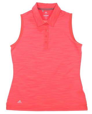 New Womens Adidas Sleeveless Polo Medium M Red MSRP $55 CE3072