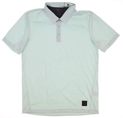 New Mens Adidas Golf Polo Medium M Green MSRP $65 DQ2432