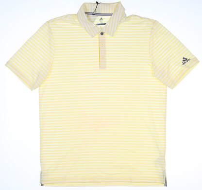 New Mens Adidas Golf Polo Medium M Yellow MSRP $65