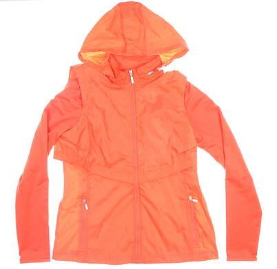 New Womens Cutter & Buck Ava Hybrid Full-Zip Jacket Medium M Orange MSRP $140 LCO09993