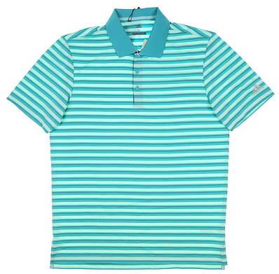 New Mens Adidas Golf Polo Medium M Blue MSRP $65