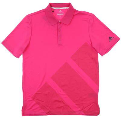 New Mens Adidas Golf Polo Medium M Pink MSRP $65