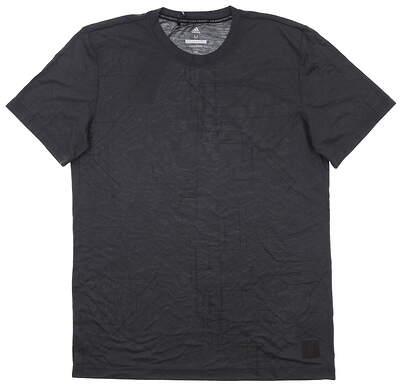 New Mens Adidas T-Shirt Medium M Black MSRP $50