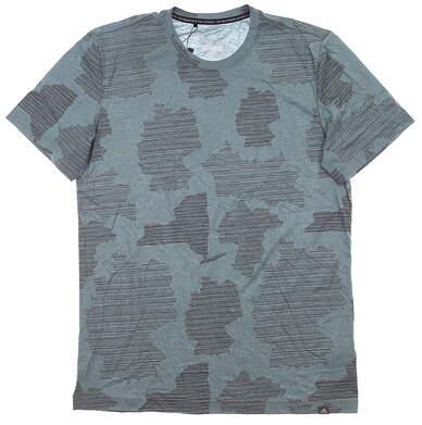 New Mens Adidas T-Shirt Medium M Gray MSRP $50