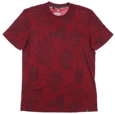 New Mens Adidas T-Shirt Medium M Maroon MSRP $50