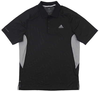 New Mens Adidas Golf Polo Medium M Black MSRP $65