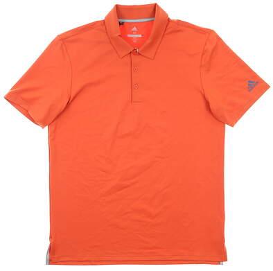 New Mens Adidas Golf Polo Medium M Orange MSRP $65
