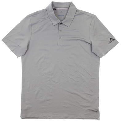 New Mens Adidas Golf Polo Medium M Gray MSRP $65