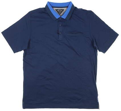New Mens Adidas Adipure Golf Polo Medium M Navy Blue MSRP $90