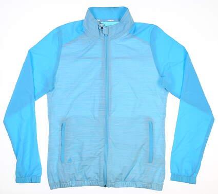 New Womens Adidas Wind Jacket Medium M Blue MSRP $75 DP5852