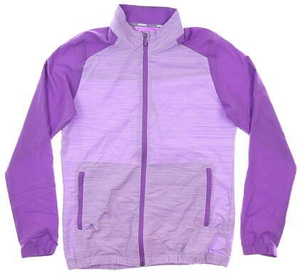 New Womens Adidas Wind Jacket Medium M Purple MSRP $75 DP5780