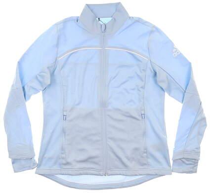 New Womens Adidas Jacket Medium M Blue MSRP $90 DT3387