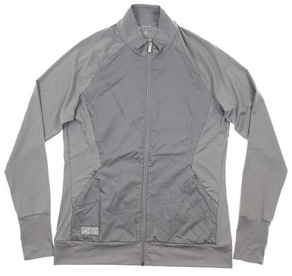 New Womens Adidas Jacket Medium M Gray MSRP $70 CD4031