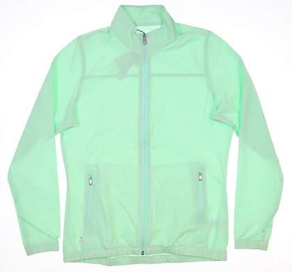 New Womens Adidas Jacket Medium M Green MSRP $70 CW6621
