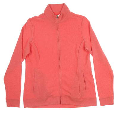 New Womens Peter Millar Full Zip Mock Neck Medium M Pink MSRP $119 LF19K20