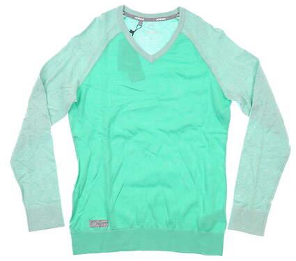 New Womens Adidas Sweater Medium M Green MSRP $70 CE0543