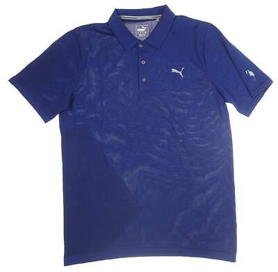 New W/ Logo Mens Puma Evoknit Golf Polo Large L Blue MSRP $75 578123
