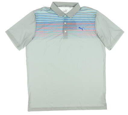 New Mens Puma Sportstyle Polo Large L Gray MSRP $65 573279