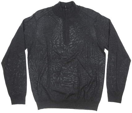 New Mens Greg Norman 1/4 Zip Merino Wool Sweater Large L Gray MSRP $126 G7F9S150