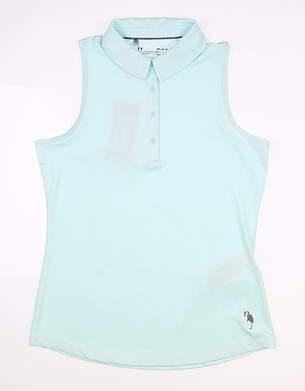 New W/ Logo Womens Under Armour Sleeveless Golf Polo Medium M Blue MSRP $65
