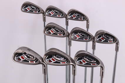 Ping G15 Iron Set 4-PW SW LW Ping AWT Steel Regular Right Handed White Dot 38.75in