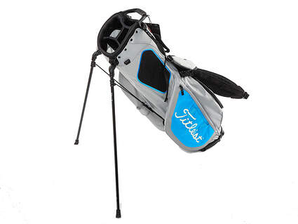 Brand New Titleist Players 4 Grey/Process Blue Stand Bag