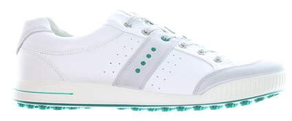 New Mens Golf Shoe Ecco Street Retro EU 45 (11-11.5) White/Green MSRP $140 03918456495
