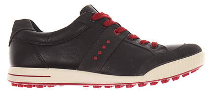 New Mens Golf Shoe Ecco Street Retro EU 45 (11-11.5) Black/Red MSRP $140 03918456497